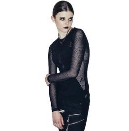 Women's Sheer Spiderweb Long Sleeve Top