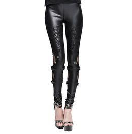 c62aec6b119 Gothic Black Leather Garterized Leggings For Women