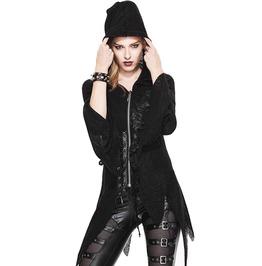 Women's Asymmetric Hem Hooded Long Sleeve Jacket
