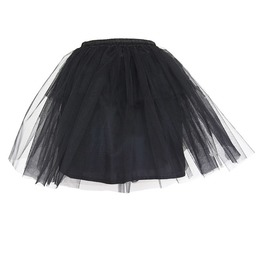 Women's Short Black Tulle Skirt