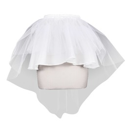 Women's Asymmetric White Tulle Skirt