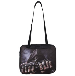 "Spiral Direct Messenger Shoulder 15"" Laptop Bag Game Over Goth Biker"
