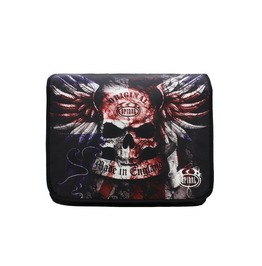 "Spiral Direct Messenger Shoulder 15"" Laptop Bag Union Jack Skull Goth Biker"