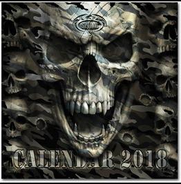 Gothic Calendar Spiral Direct Dark Arts Occult Biker Metal 2018