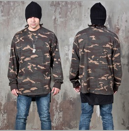 Camouflage Loose Fit Long Shirts 799