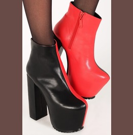 Iron Fist Two Faced Bootie (Black/Red)