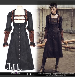 Steampunk Aristocrat Rotis Mansion Snake Scale Low Rise Coat Sp153