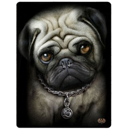 Gothic Fleece Blanket Throw Pug Life Alternative Goth Cute Dog