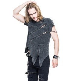 Men's Zipper Short Sleeve T Shirt