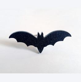 Black Glitter Bat Adjustable Ring
