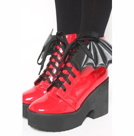 Iron Fist Bat Wing Boot (Patent Red)
