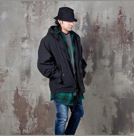 Oversized Hooded Black Jacket 277