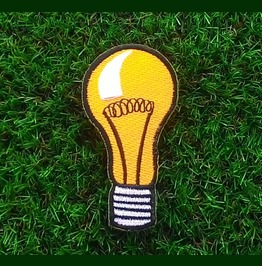 Yellow Bulbs Embroidered Iron On Patch.