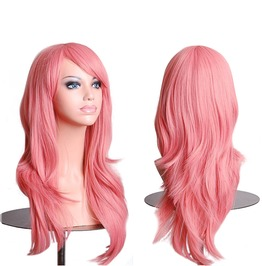 28 Inches Long Body Wave Party Costume Cosplay Synthetic Wig Women With Cap