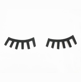 2 Pcs. Closed Eyelash Embroidered Iron On Patch.