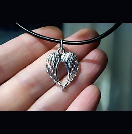 Mens Pendant Wings Dominant Necklace Angel Demon Satanic Man Jewelry Bdsm