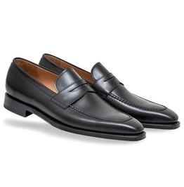 Handmade Men Black Formal Dress Shoes Moccasins, Men Leather Shoes