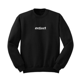 Extinct Black Women's Sweatshirt Sweater Harajuku