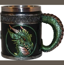 Medieval Dragon Mug Tankards 3 Pc Set