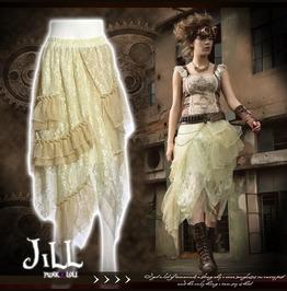 Steam Punk Lily Alchemist Chandler Asymmetrical Hem Lace Skirt Sp166 W