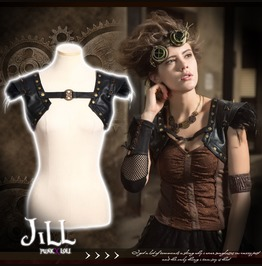 Steampunk Visual Strider Legion Feather Spike Bolero Pauldron Sp174 B