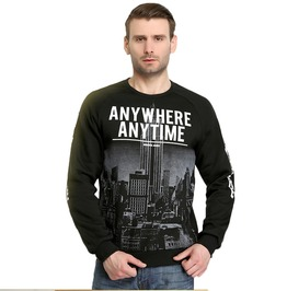 Autumn Winter Anywhere Anytime City Photo Sweatshirt Men