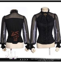 Steampunk Victorian Aristocrat The Countess See Through Jabot Shirt Jrsp180