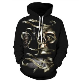 3 D Print Skull Mummy Hollow Man Hooded Sweatshirt Men Women