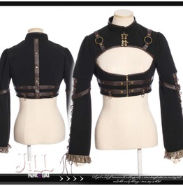 Steampunk Revolution Espionage Keyhole Bolero Latch Jacket Jrsp184