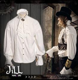 Steampunk Aristocrat Earl Of Misfortune Jabot Crease Dress Shirt Jrspm003