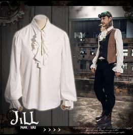 Steampunk Aristocrat Hall Of Glory Flounce Lantern Sleeve Shirt Jrspm004