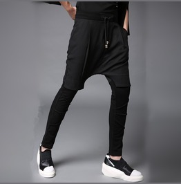 New False Two Piece Men's Fashion Casual Skinny Elasticband Pants