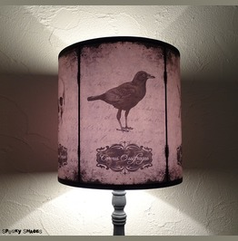 Crow Raven Bat Skull Spider Lampshade Halloween Curiosities