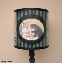 Cat Drinking Absinthe Lamp Shade Lampshade, Art Nouveau, Bohemian Decor
