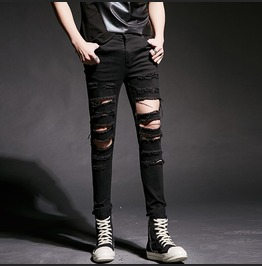 Men Stylish Ripped Skinny Slim Fit Pants