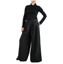 Palazzo Pants Wide Leg Pants High Waisted Pants Black Trousers