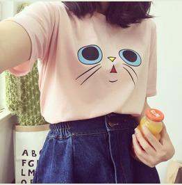 Cat T Shirt / Camiseta Gato Wh482