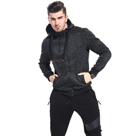 Double Zipper Autumn Winter Fashion Hoodies Men Hooded Jacket