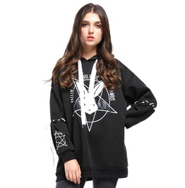 Harajuku Long Loose Tracksuit Hoodies Fallen Evil Cutie Angel Rabbit