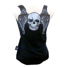 Rockabilly punk rock baby skull angel tank top shirt s m l xl xxl tanks tops and camis