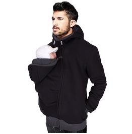 Men's Kangaroo Fleece Sweatshirt Hoodie Jacket Dad And Baby Carrier Coat