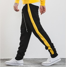 Men's Contrast Stripe Drawstring Joggers Pants