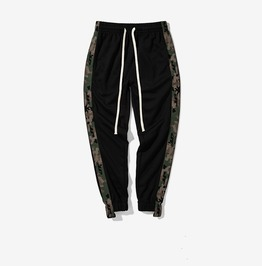 Men's Camouflage Colorblock Drawstring Knit Joggers