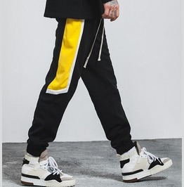 Men's Fashion Contrast Embroideried Skinny Joggers