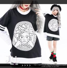 American Street Punk Burlesque Nemesis Goddess Layer Look Tshirt Jnc0143