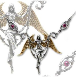 Angel Two Tone Pewter Pendant