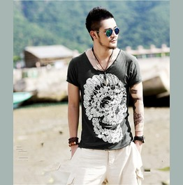 New Shirt Men Summer Punk Top Rock Tee Skull T Shirt Mens S M L