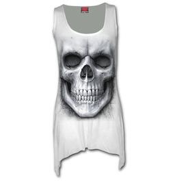 Goth Bottom Vest Dress White