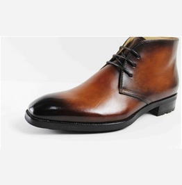 Handmade Hand Painted Brown Lace Up Chukka Boots, Chukka Boots For Men