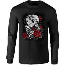 Day Of The Dead Praying Skull Long Sleeve T Shirt